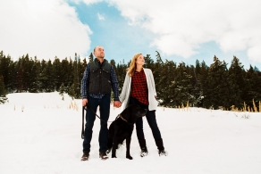 Brie and Josh and Bear /// Breckenridge and the Mountains